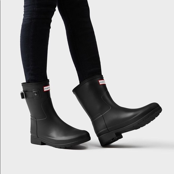 1a3a6320256 NIB Hunter Tour Black Matte Ankle Boots SALE‼️‼️‼️ NWT